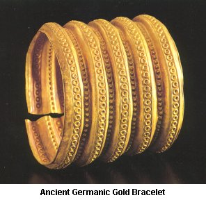 Ancient Germanic Gold Bracelet - Click to enlarge