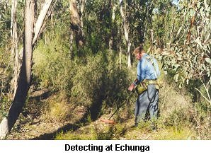 Detecting at Echunga - Click to enlarge