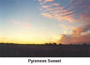 Pyrenees Sunset - Click to enlarge