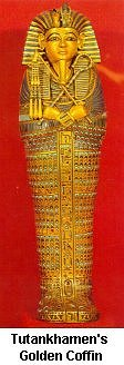 Tutankhamen's Golden Coffin - Click to enlarge