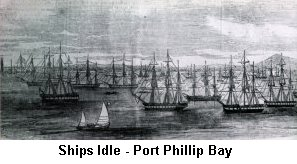 Ships Idle Port Phillips Bay